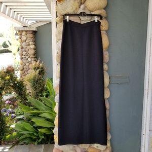 St. John Basics Black Evening Skirt